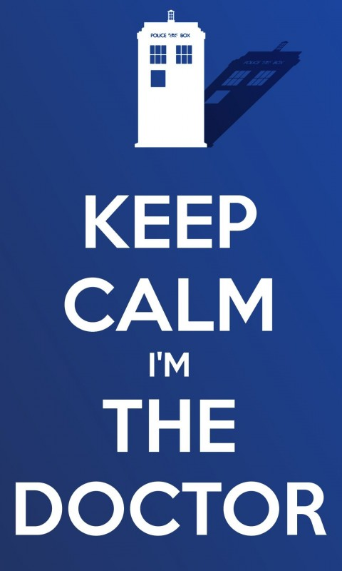 Keep Calm Im The Doctor Wallpaper for SAMSUNG Galaxy S3 Mini