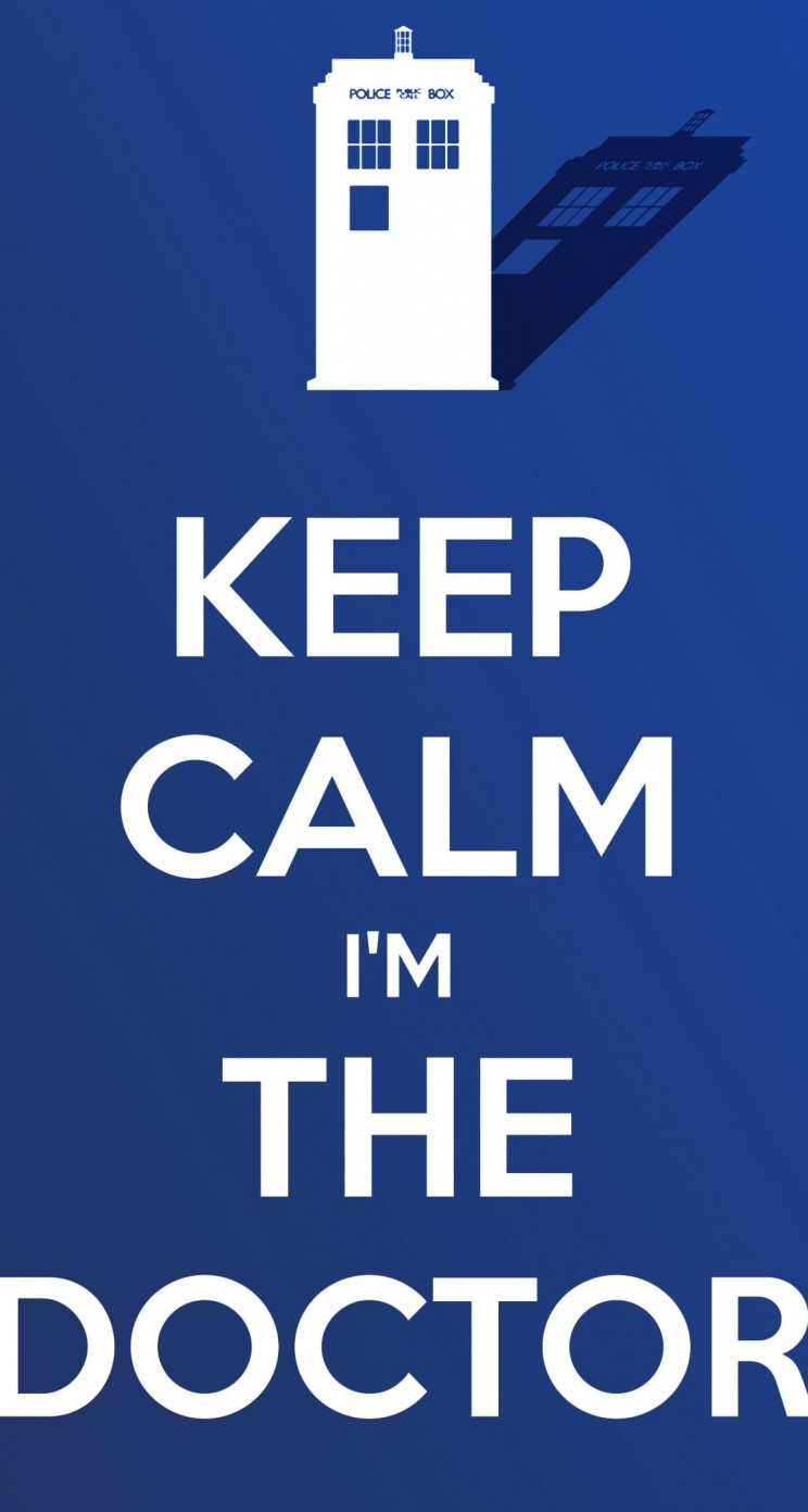 Keep Calm Im The Doctor Wallpaper for Apple iPhone 5 / 5s