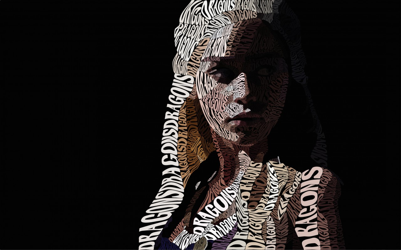 Khaleesi Typography Wallpaper for Desktop 1280x800