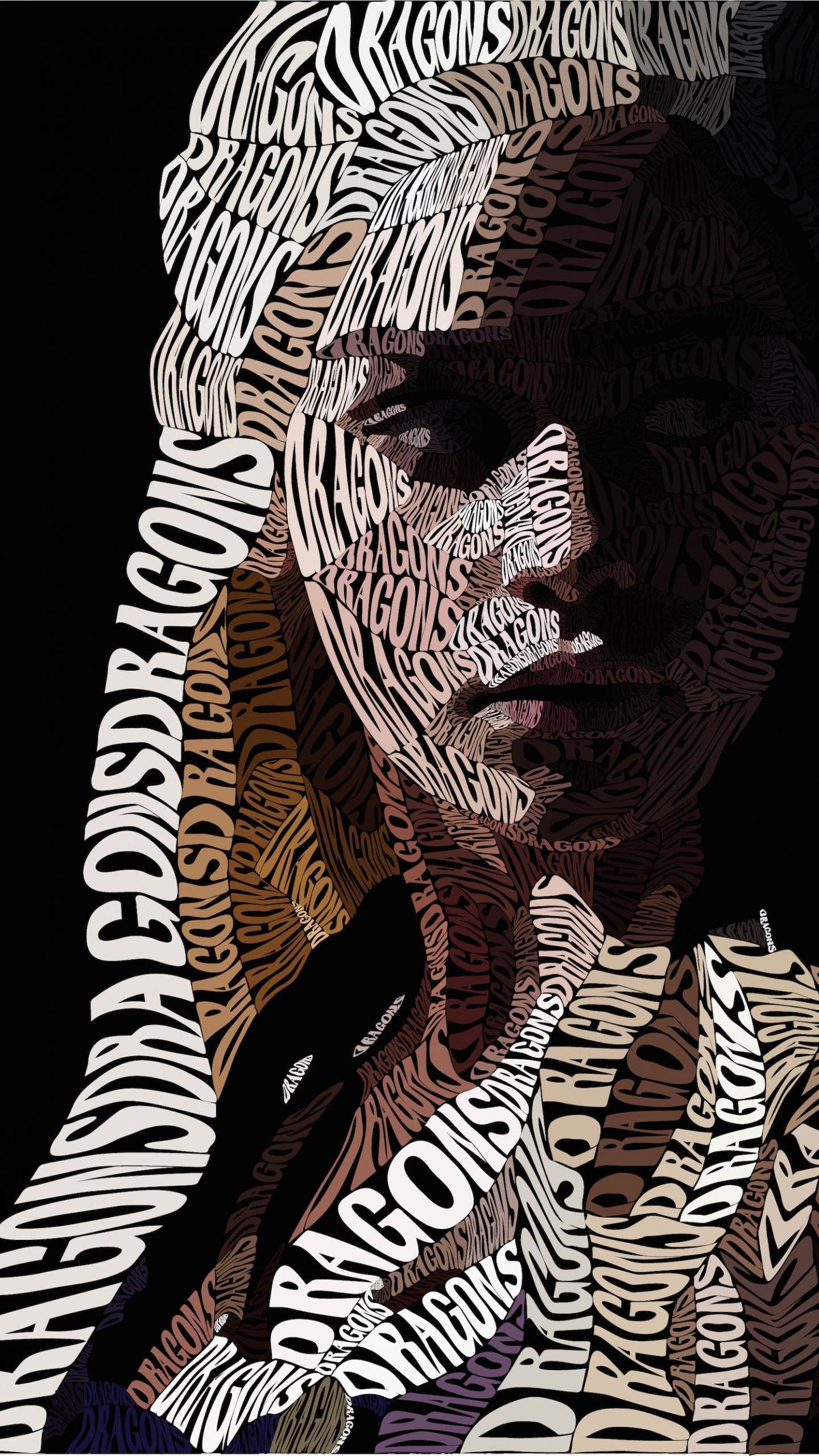 Khaleesi Typography Wallpaper for SAMSUNG Galaxy Note 4