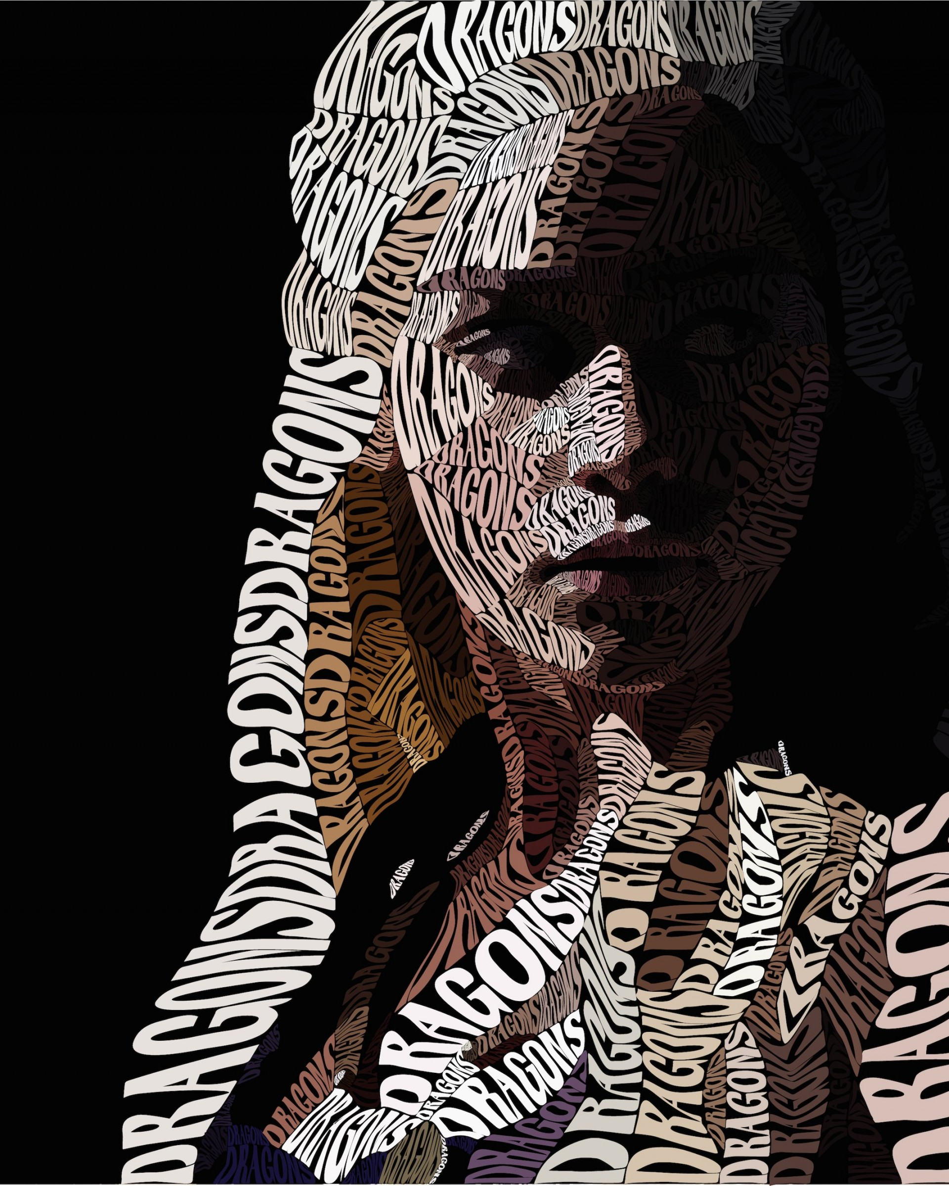 Khaleesi Typography Wallpaper for Google Nexus 7