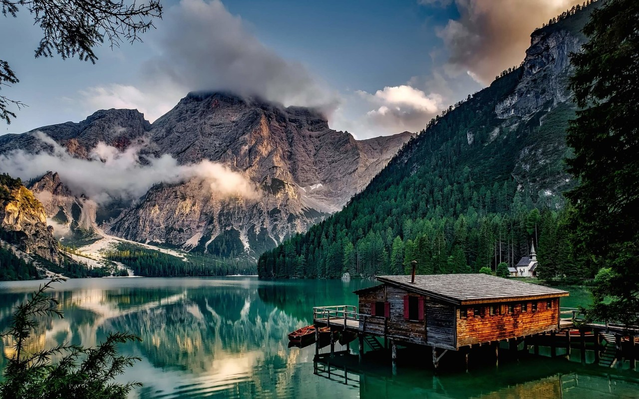 Lake Prags - Italy Wallpaper for Desktop 1280x800
