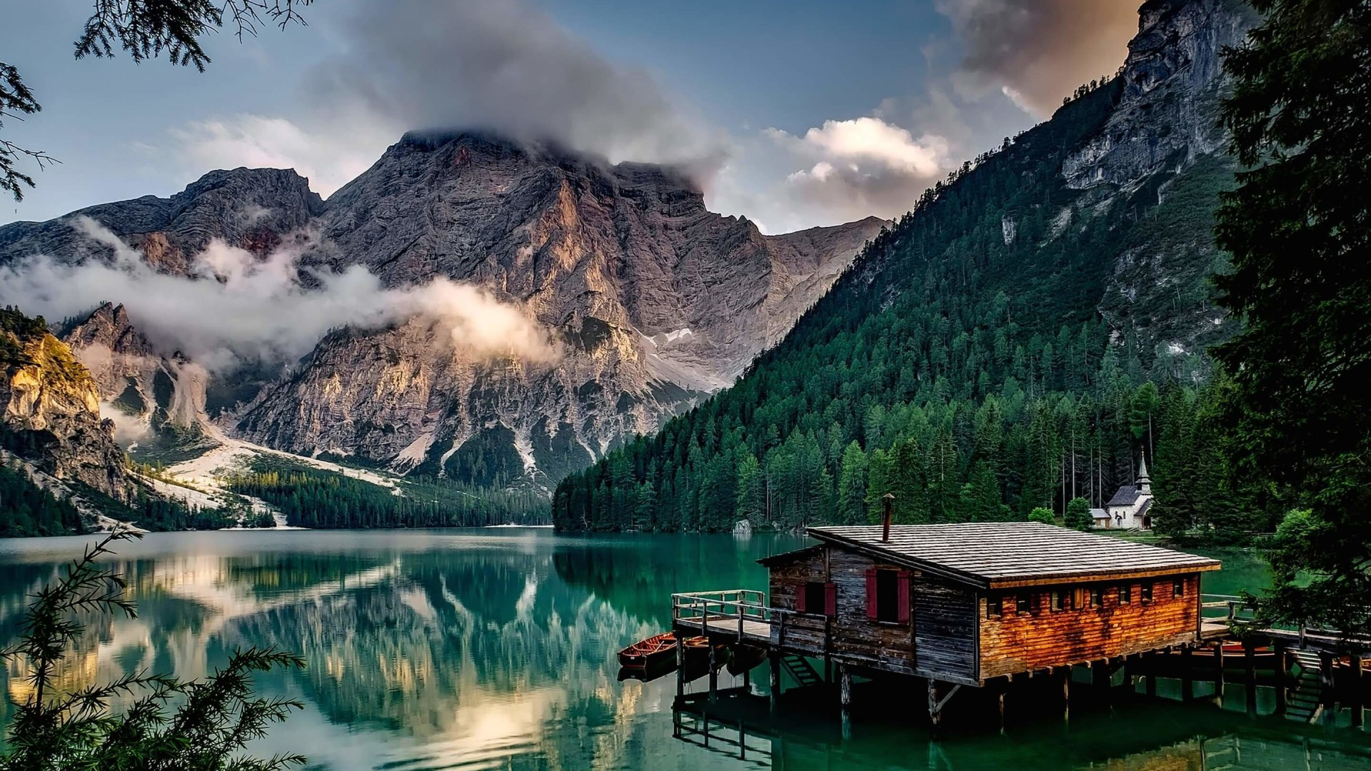 Lake Prags - Italy Wallpaper for Desktop 1920x1080