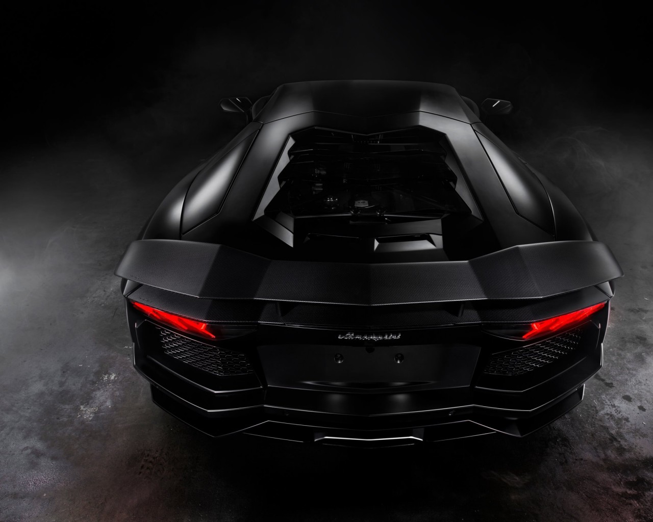 Lamborghini Aventador Matte Black Wallpaper for Desktop 1280x1024