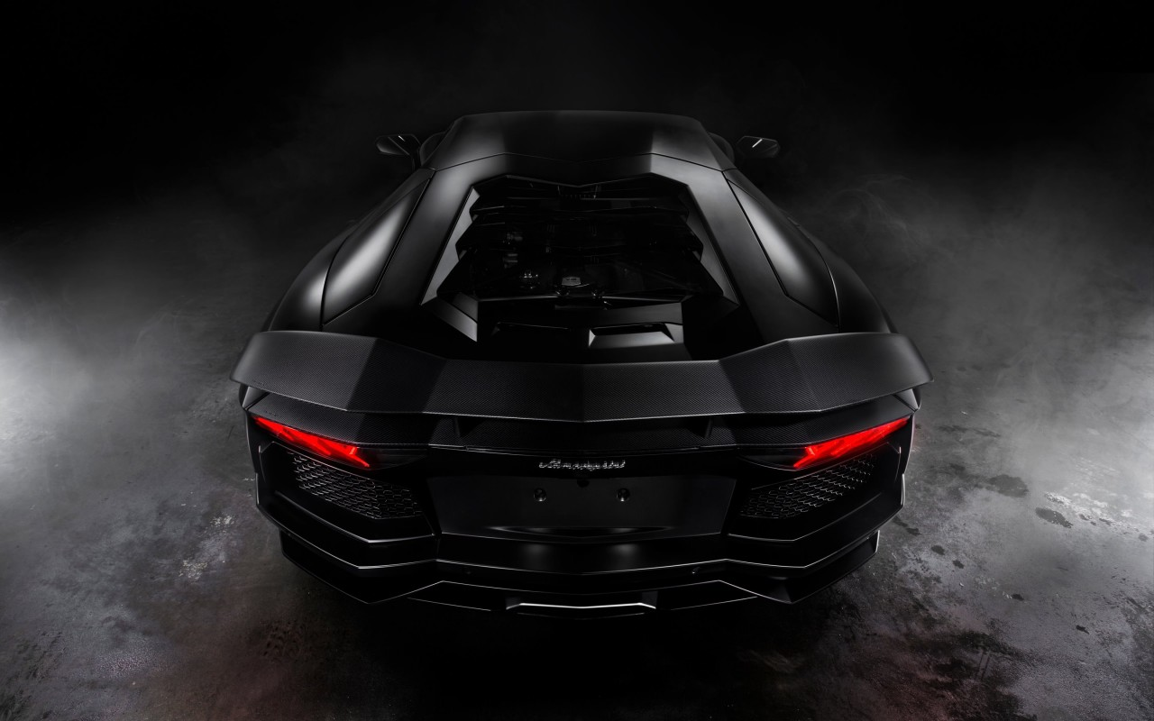 Lamborghini Aventador Matte Black Wallpaper for Desktop 1280x800