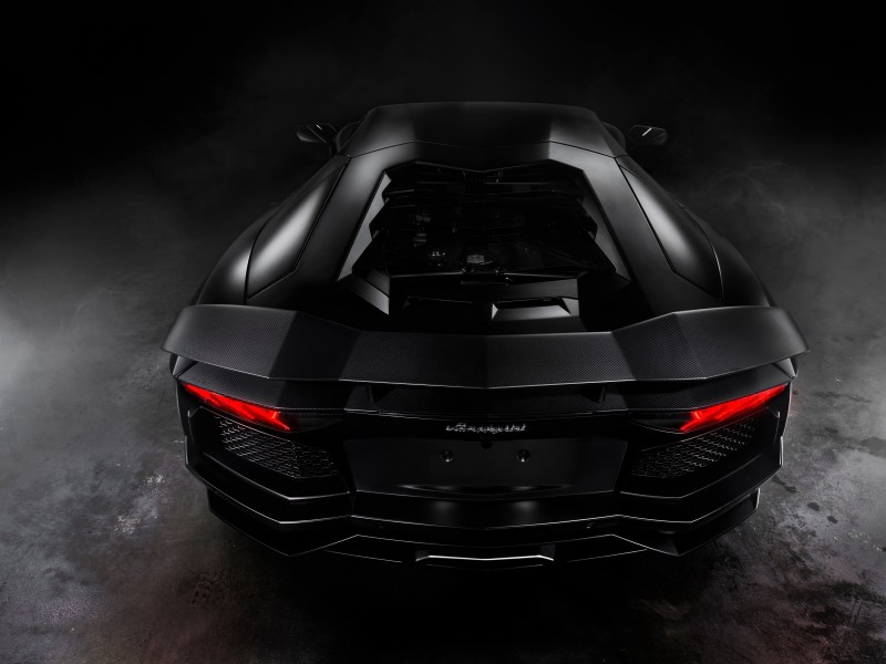 Lamborghini Aventador Matte Black Wallpaper for Desktop 800x600