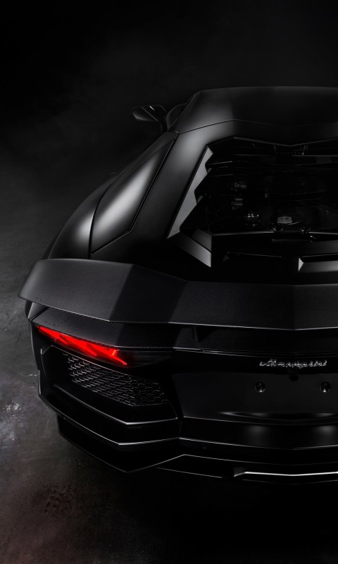 Lamborghini Aventador Matte Black Wallpaper for SAMSUNG Galaxy S3 Mini