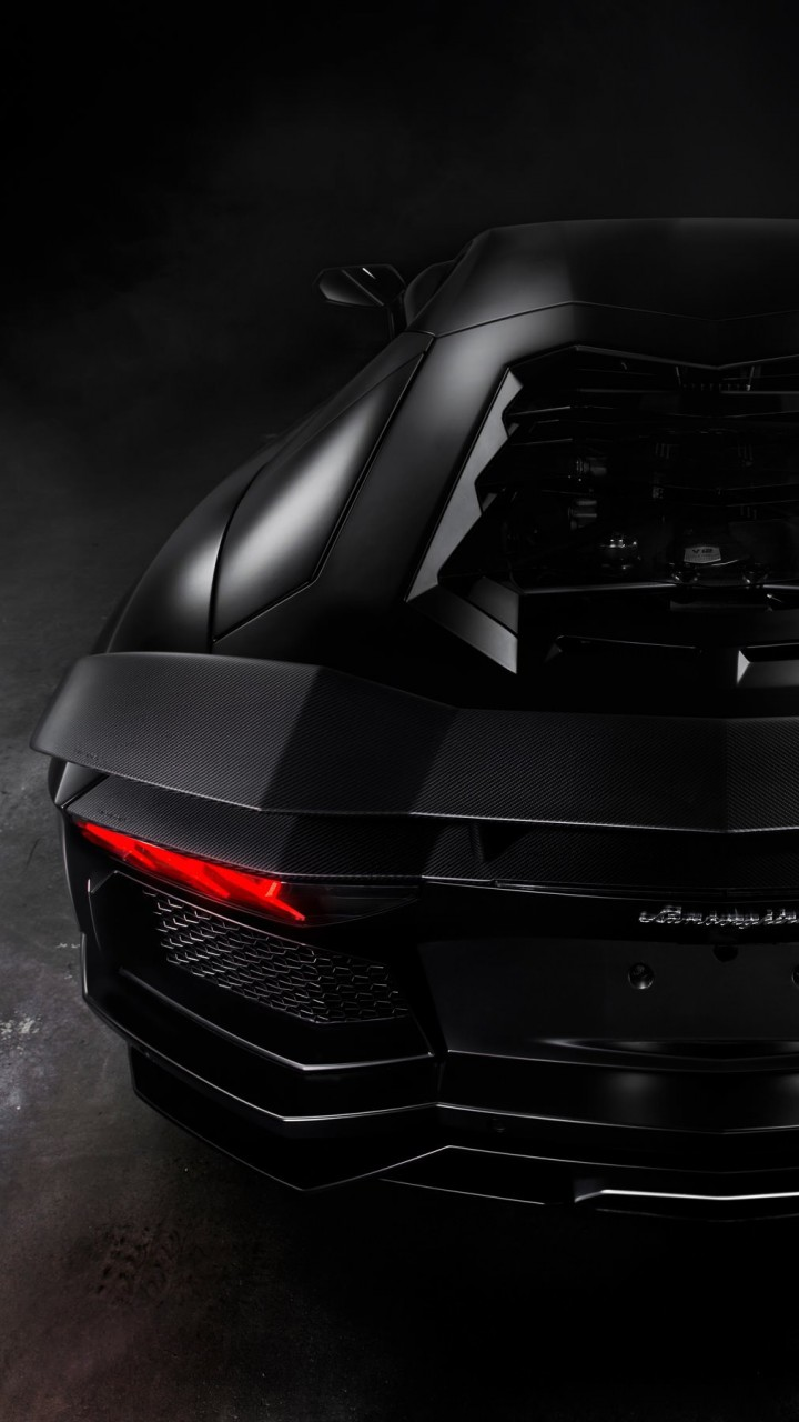 Lamborghini Aventador Matte Black Wallpaper for HTC One mini