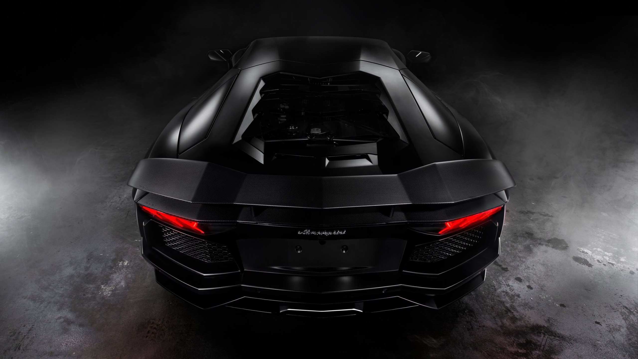 Lamborghini Aventador Matte Black Wallpaper for Social Media YouTube Channel Art
