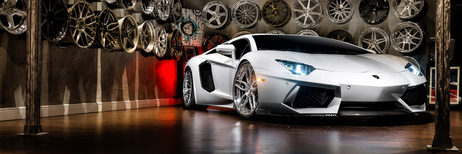 Lamborghini Aventador On ADV.1 Wheels Wallpaper for Social Media Twitter Header