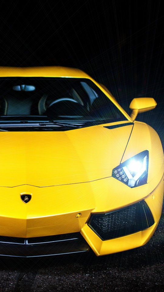 Lamborghini Murcielago LP670 Front View Wallpaper for SAMSUNG Galaxy S4 Mini