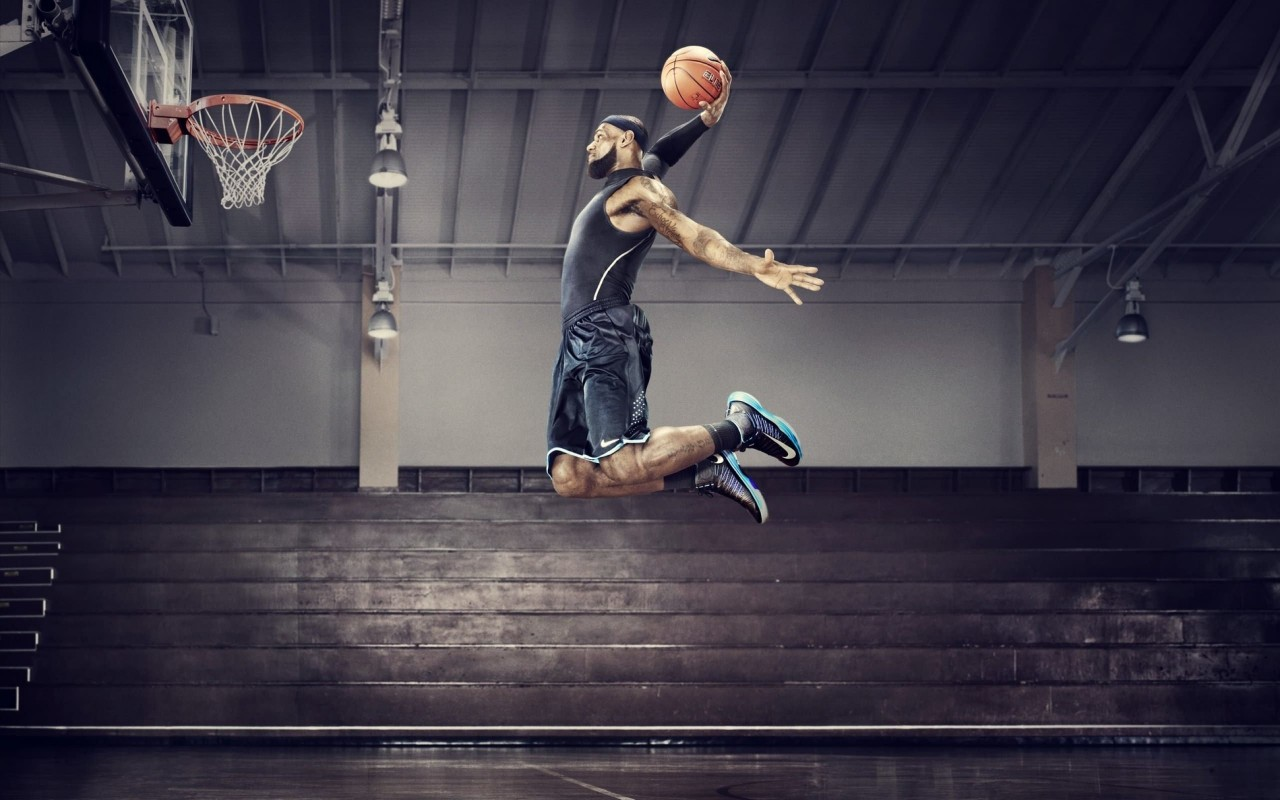 Lebron James Dunk Wallpaper for Desktop 1280x800