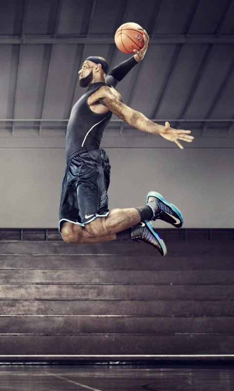 Lebron James Dunk Wallpaper for HTC Desire HD