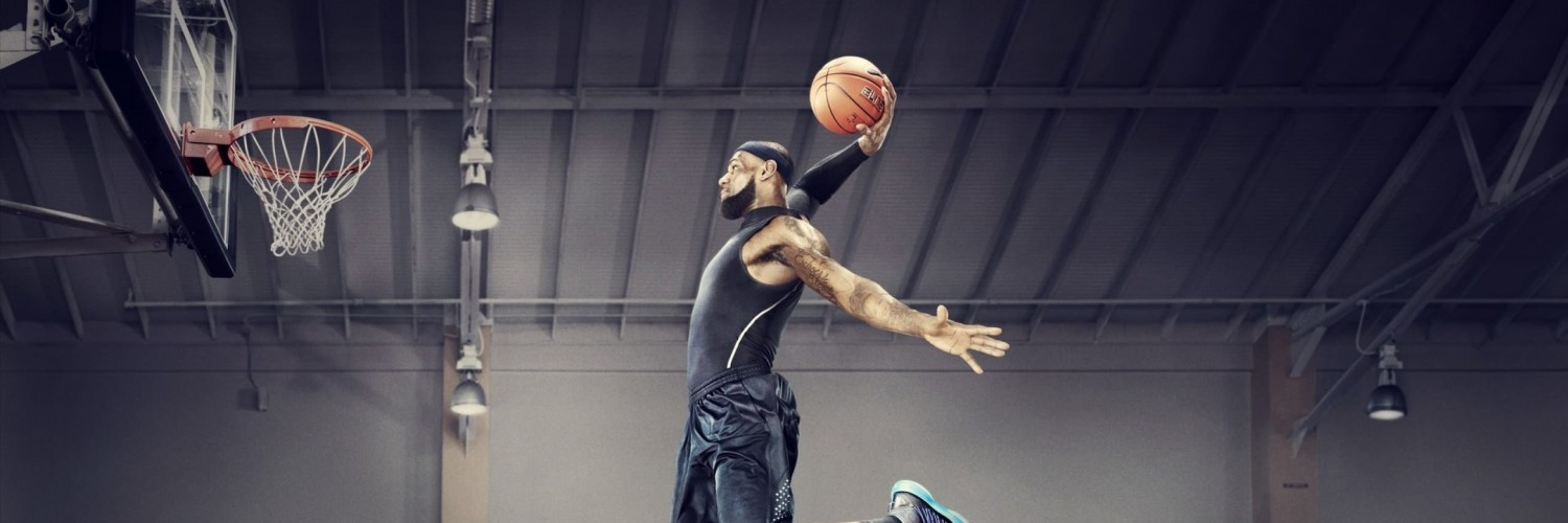 Lebron James Dunk Wallpaper for Social Media Twitter Header
