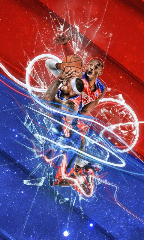 LeBron James Vs Kobe Bryant - NBA - Basketball Wallpaper for HTC Desire HD