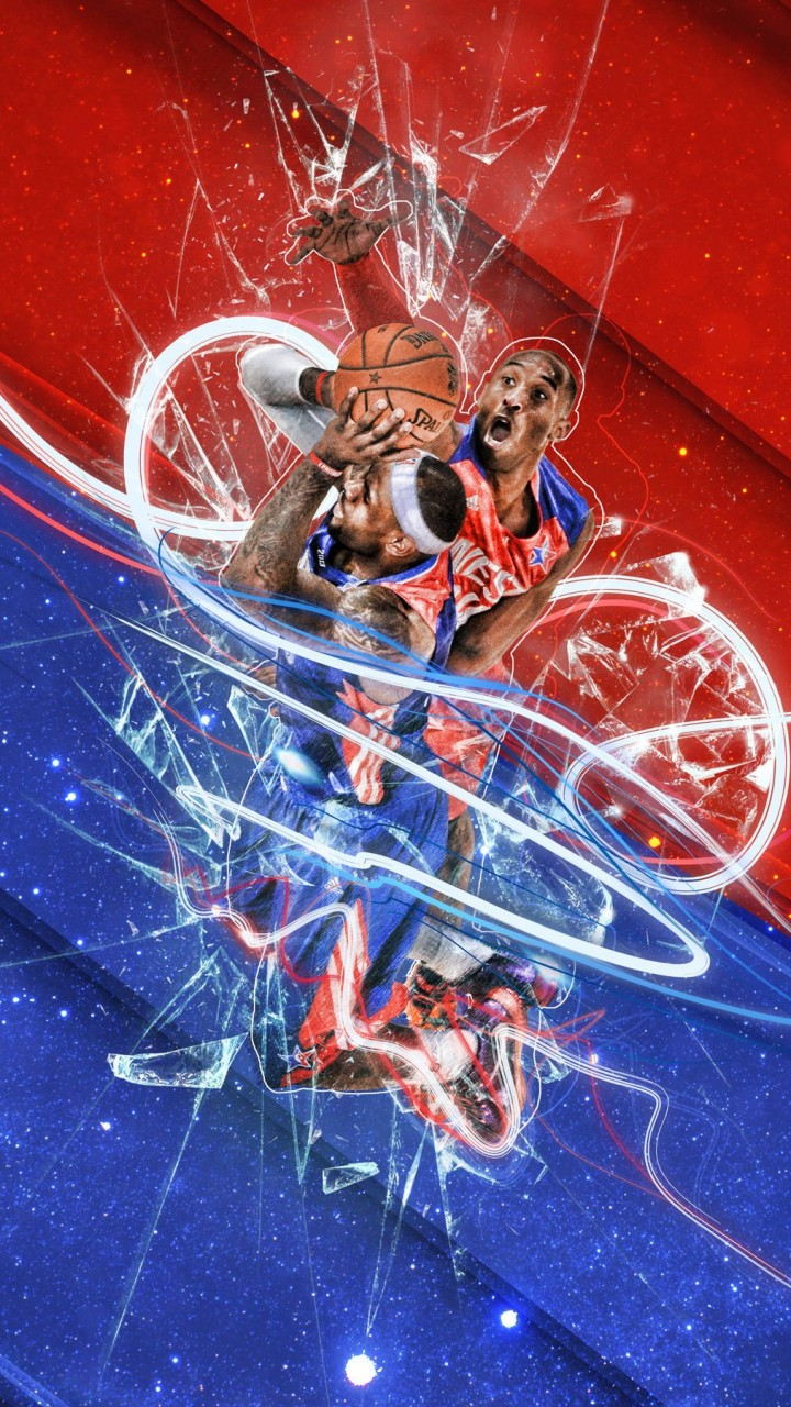 LeBron James Vs Kobe Bryant - NBA - Basketball Wallpaper for Xiaomi Redmi 1S
