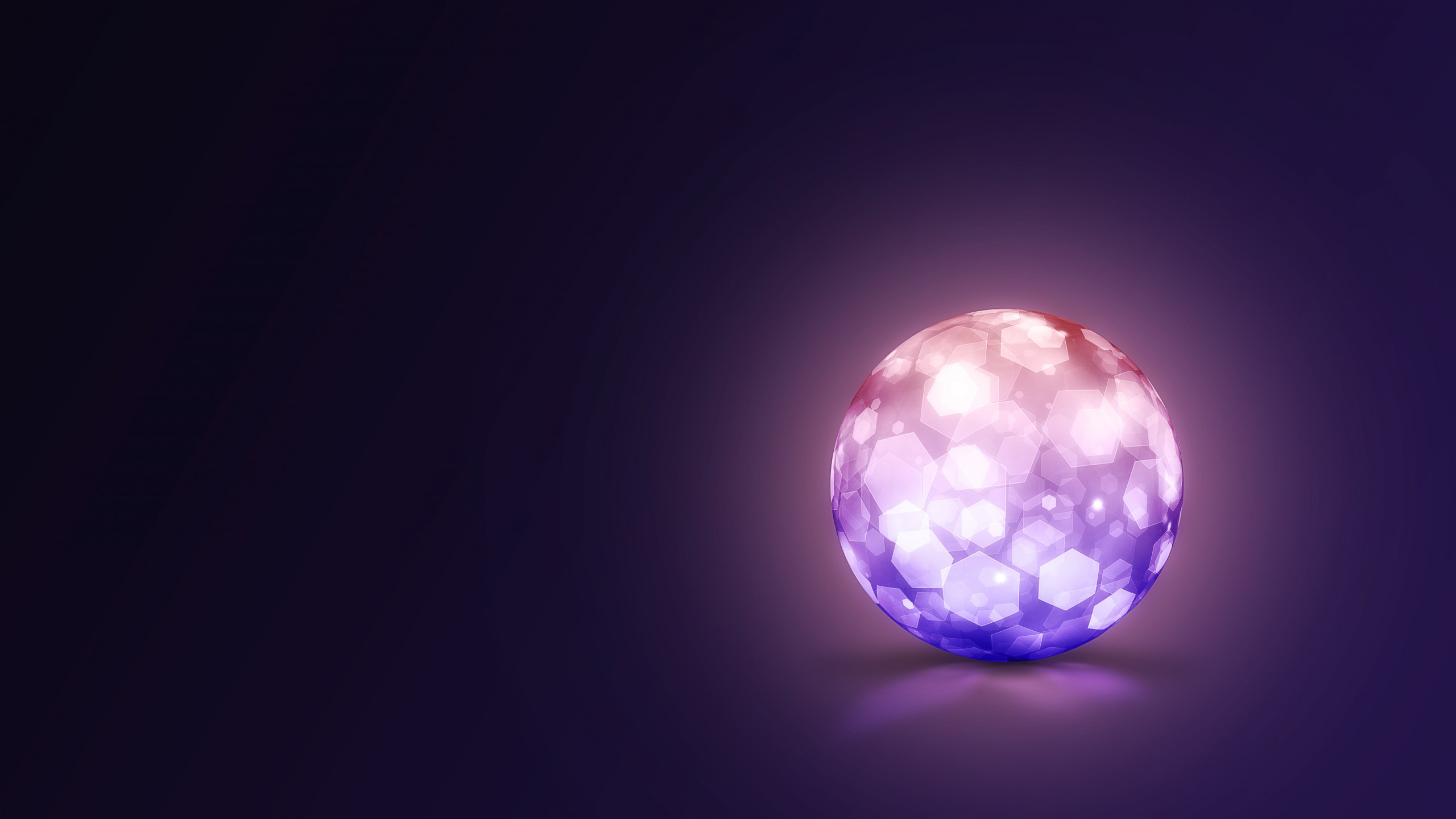 Lightning Ball Wallpaper for Desktop 2560x1440
