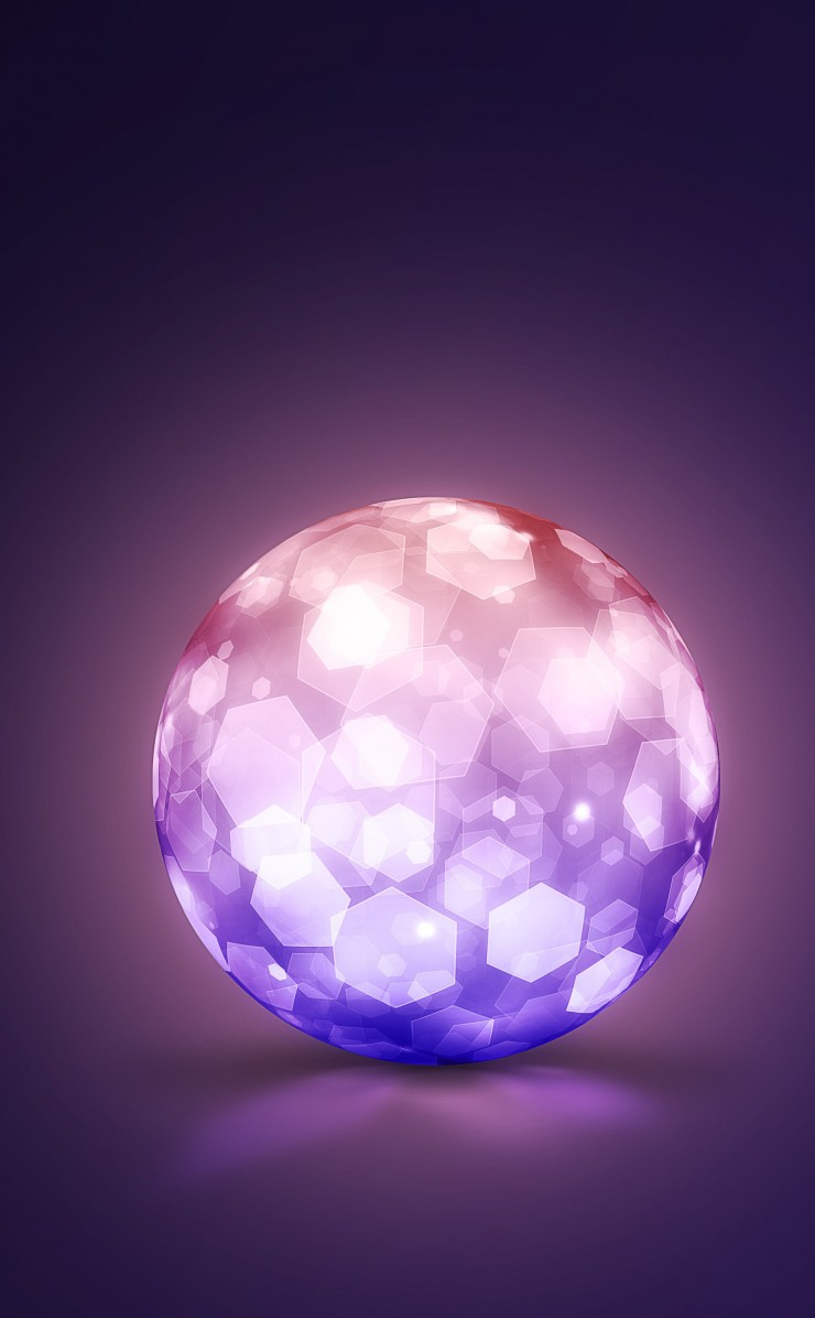 Lightning Ball Wallpaper for Apple iPhone 4 / 4s