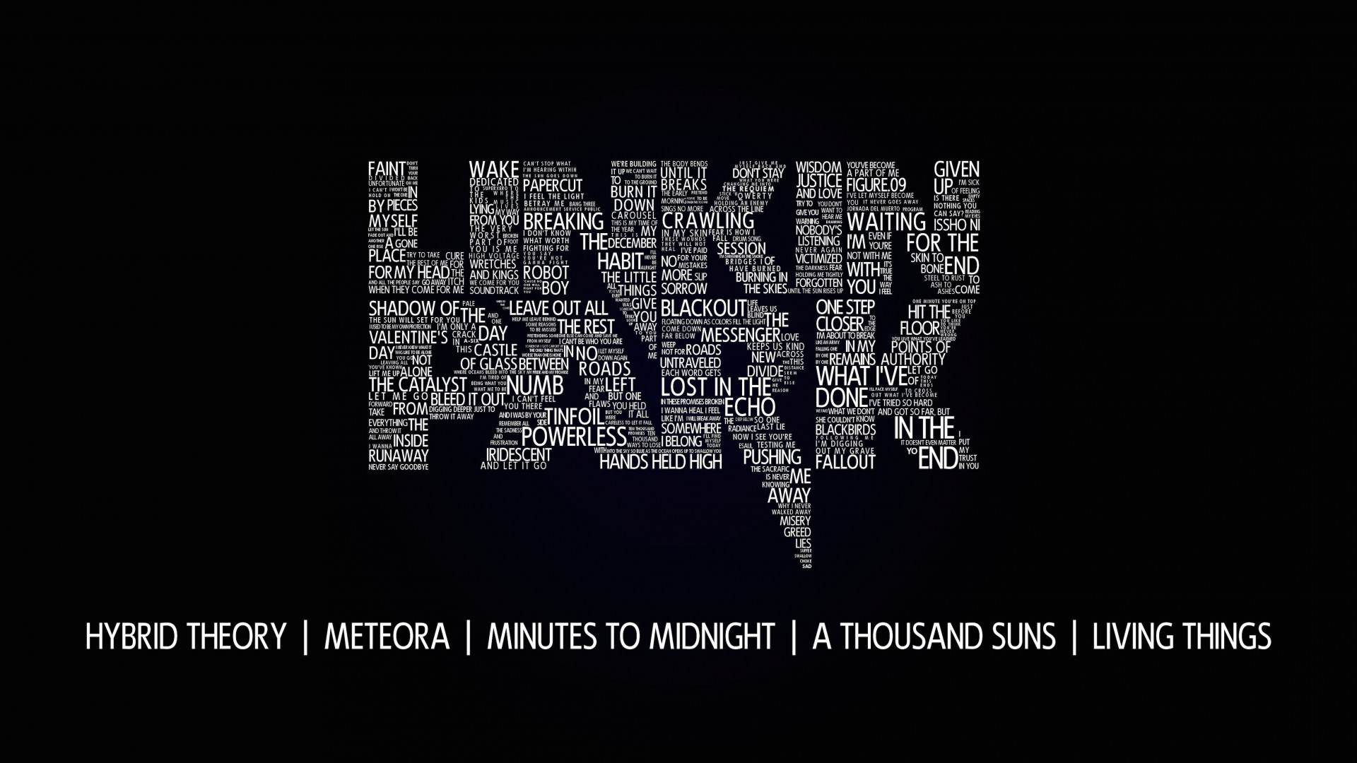 Linkin Park Typography Wallpaper for Desktop 1920x1080