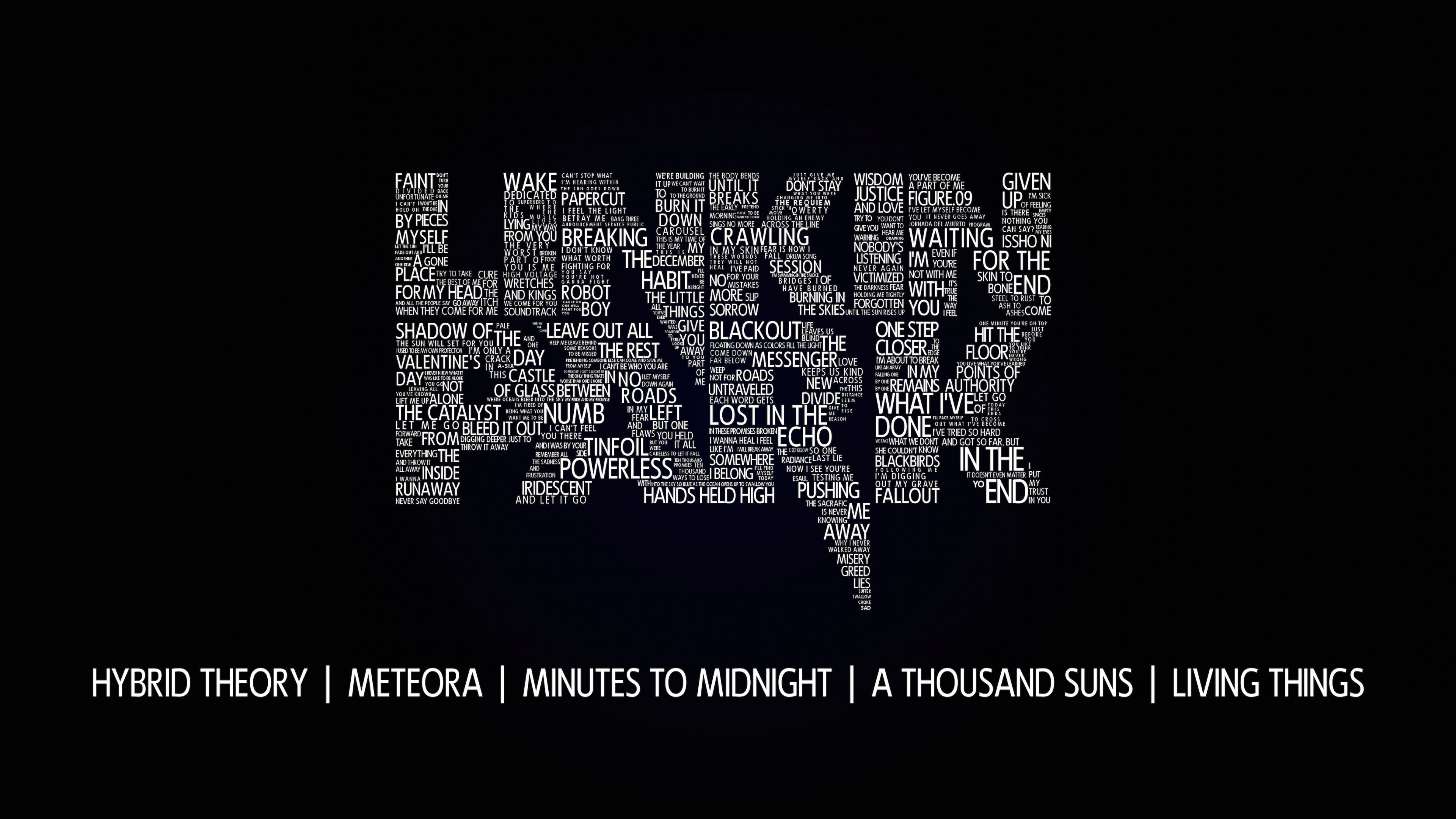 Linkin Park Typography Wallpaper for Desktop 4K 3840x2160