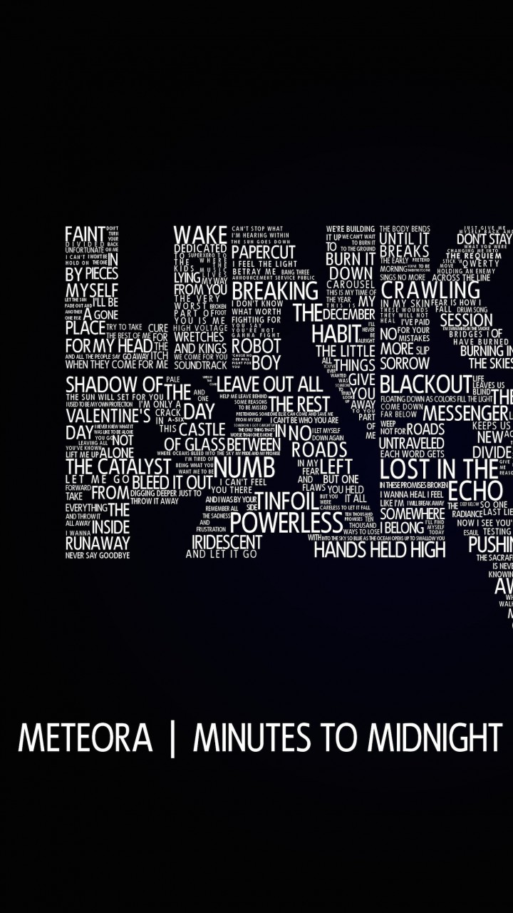 Linkin Park Typography Wallpaper for SAMSUNG Galaxy Note 2