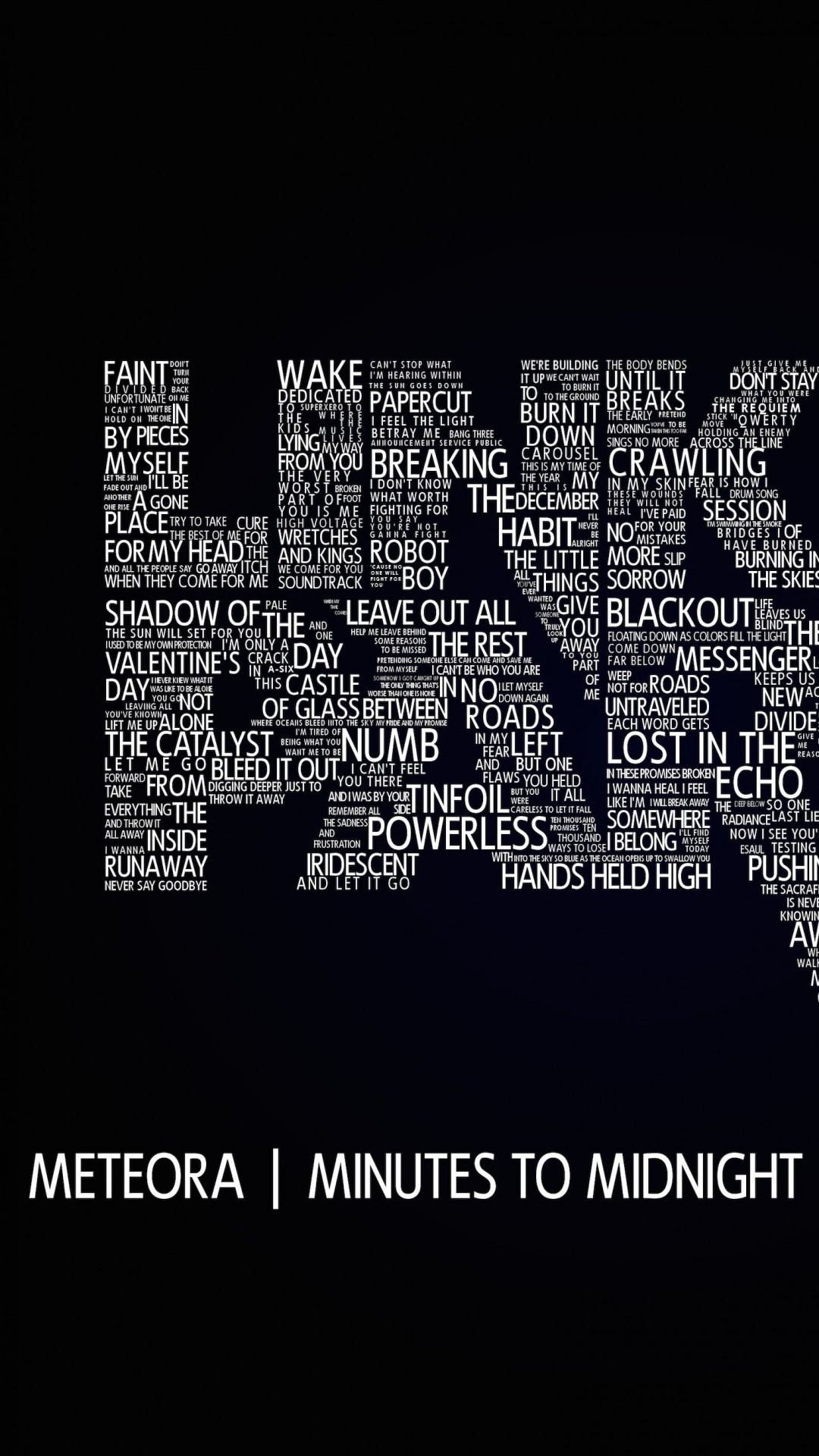 Linkin Park Typography Wallpaper for SAMSUNG Galaxy S4