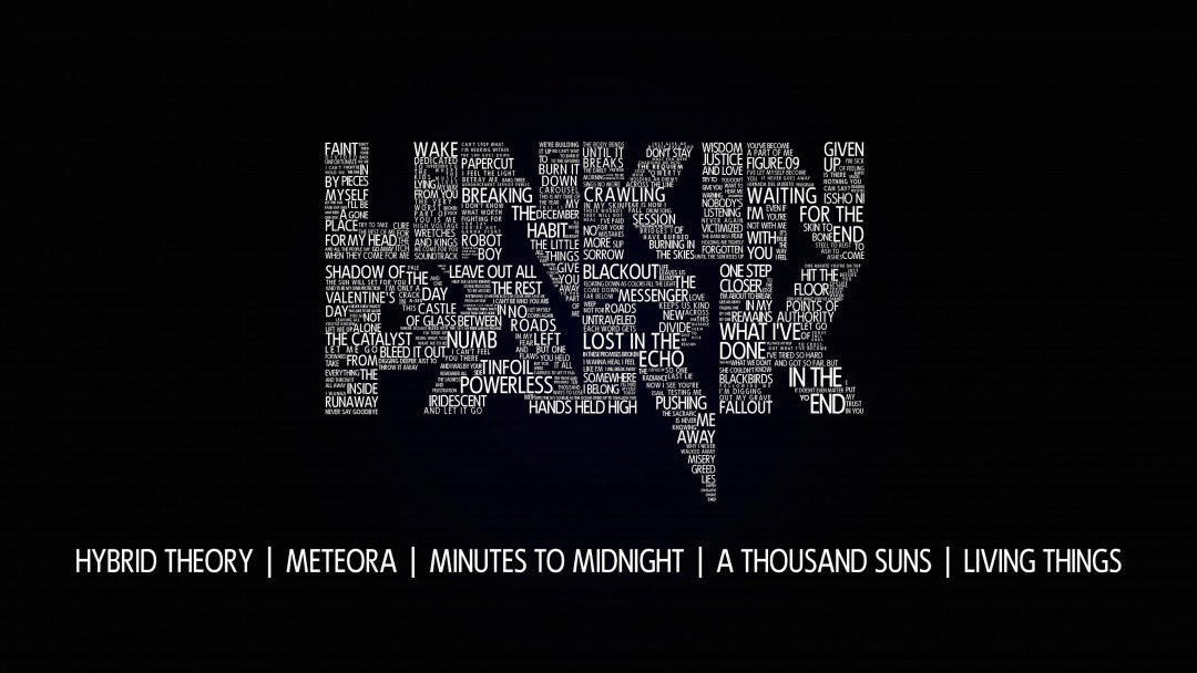 Linkin Park Typography Wallpaper for Social Media Google Plus Cover