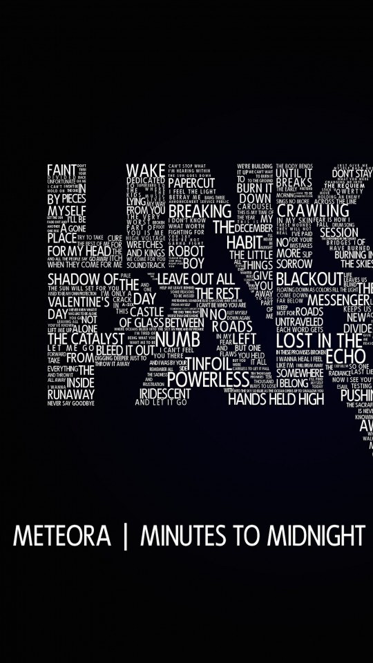 Linkin Park Typography Wallpaper for Motorola Moto E