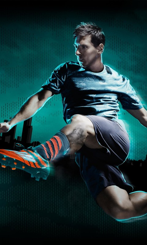 Lionel Messi Adidas Commercial Wallpaper for HTC Desire HD