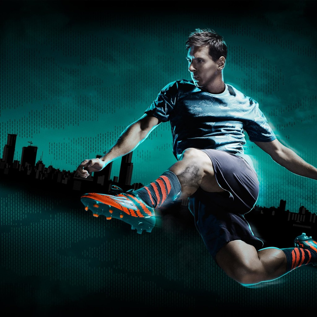 Lionel Messi Adidas Commercial Wallpaper for Apple iPad 2