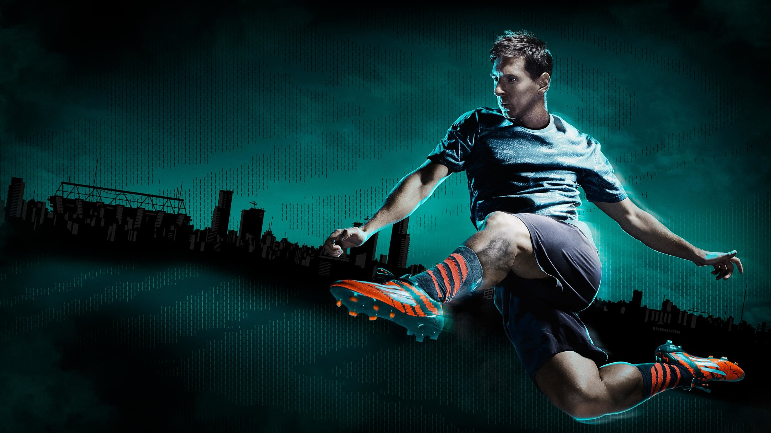Lionel Messi Adidas Commercial Wallpaper for Social Media YouTube Channel Art