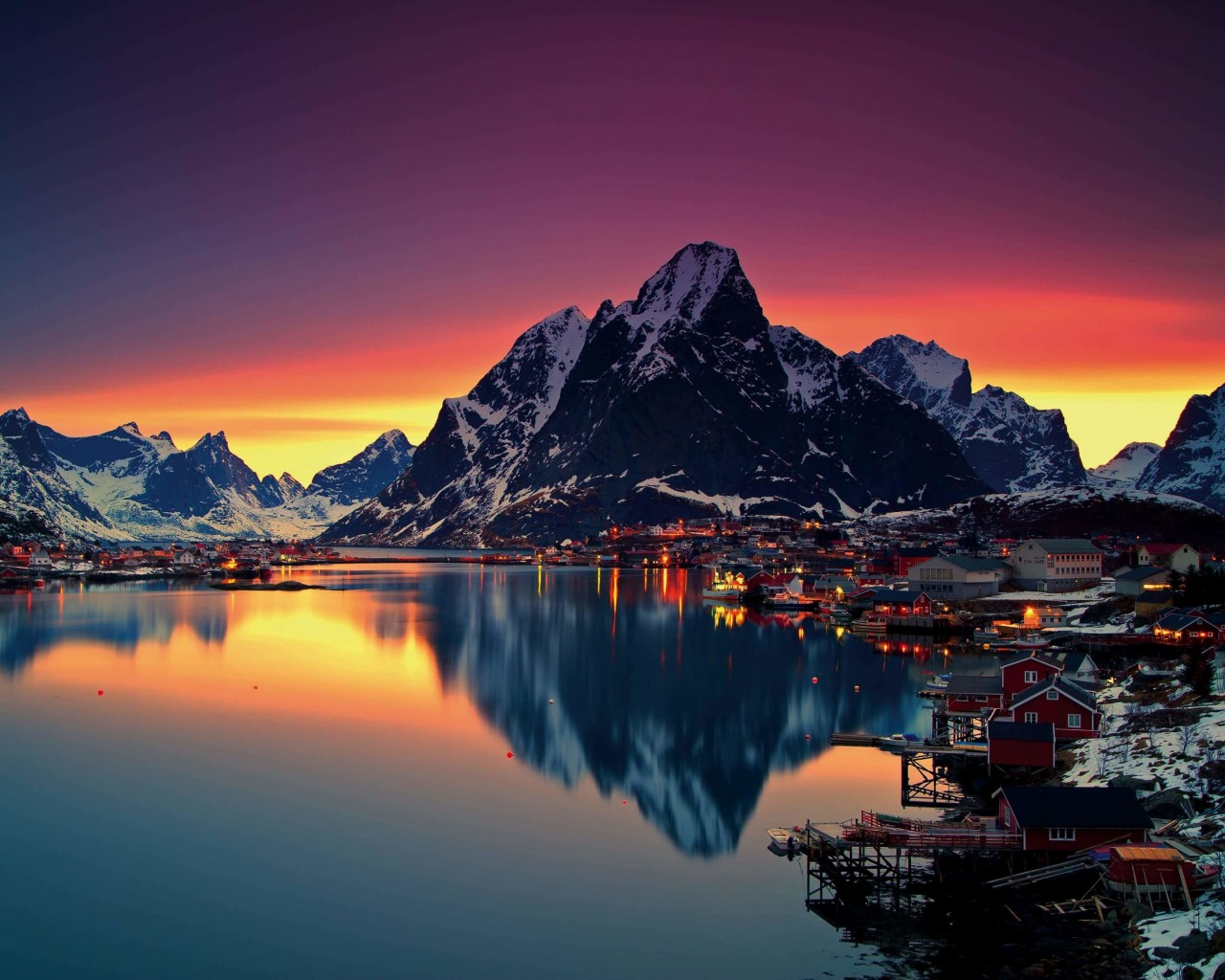 Lofoten Islands, Norway Wallpaper for Desktop 1280x1024