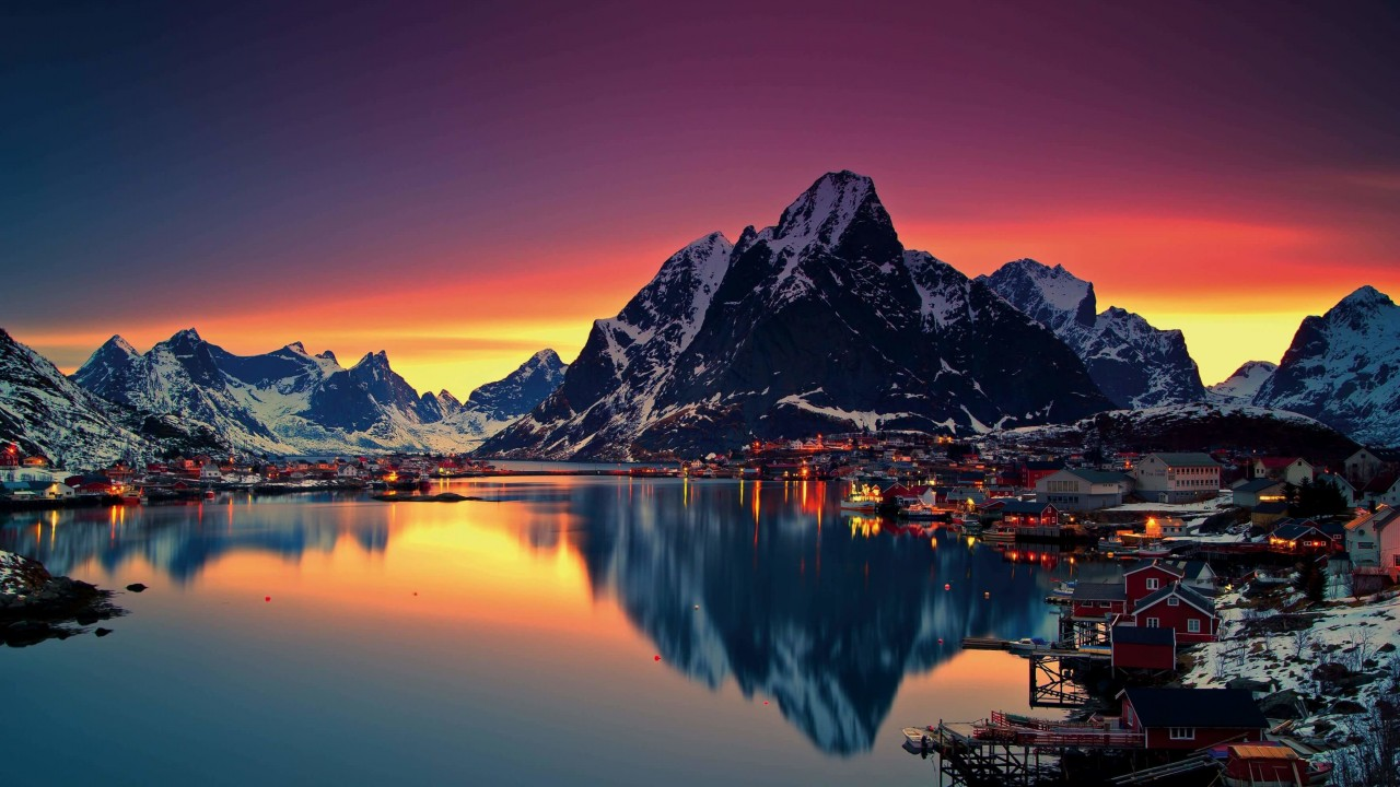 Lofoten Islands, Norway Wallpaper for Desktop 1280x720