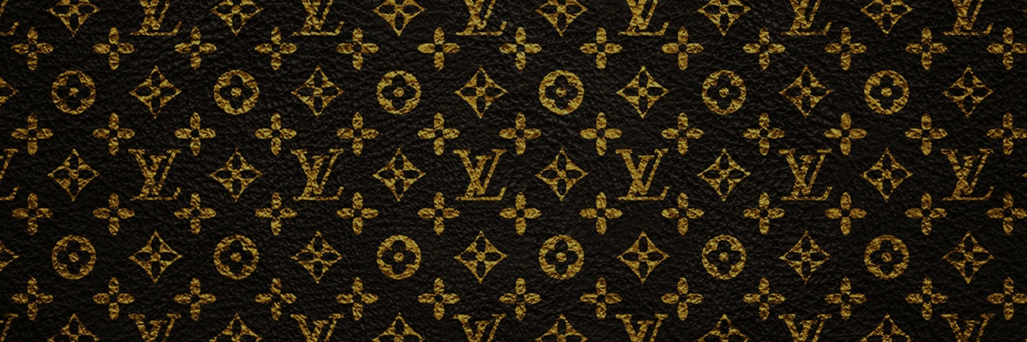 Louis Vuitton Pattern Wallpaper for Social Media Twitter Header