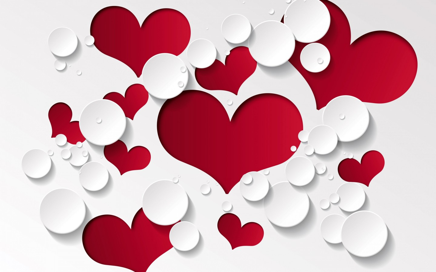Love Heart Shaped Pattern Wallpaper for Desktop 1440x900
