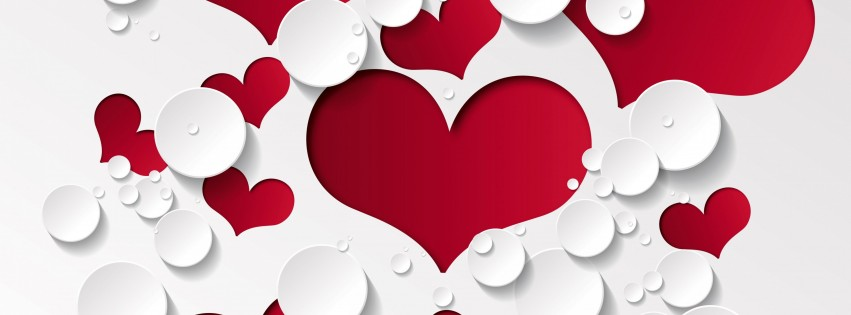 Facebook Cover Page Love Wallpaper Love Heart Shaped Pattern