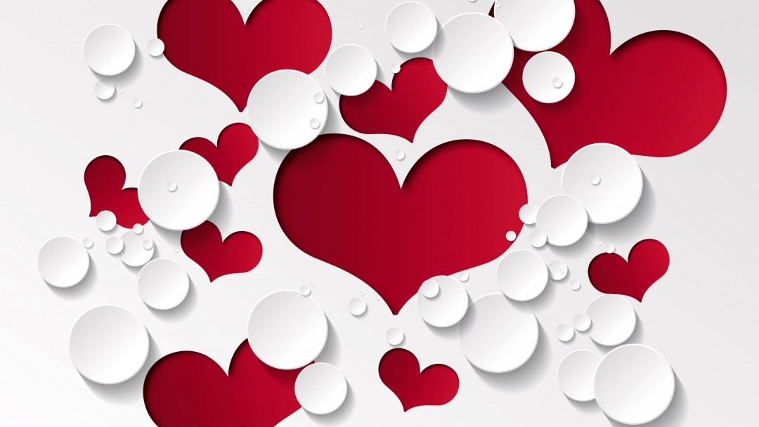 Love Heart Shaped Pattern Wallpaper for Social Media Google Plus Cover