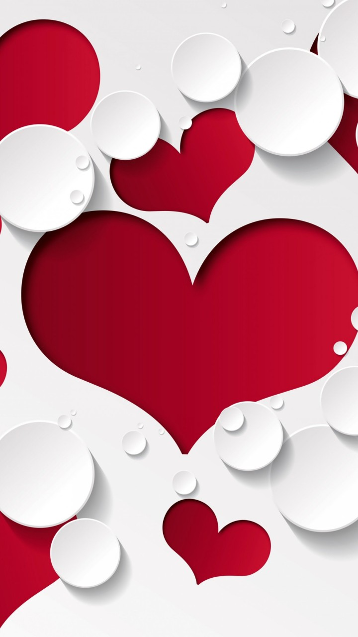 Love Heart Shaped Pattern Wallpaper for HTC One X