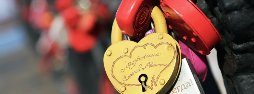 Love Lock Wallpaper for Social Media Facebook Cover