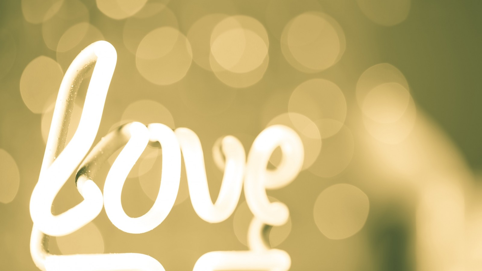 Love Neon Light Typography Wallpaper for Desktop 1600x900