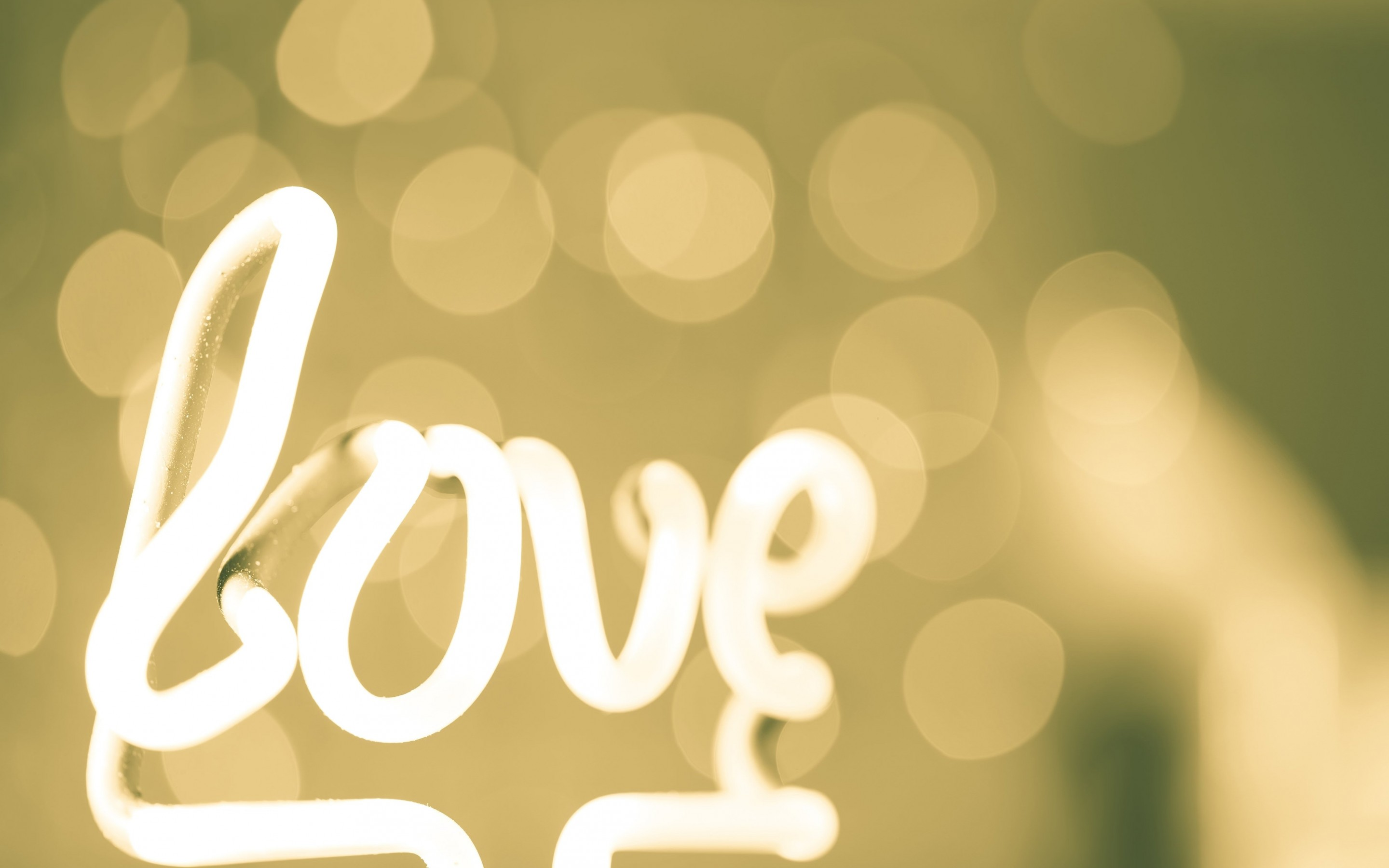 Love Neon Light Typography Wallpaper for Desktop 2880x1800