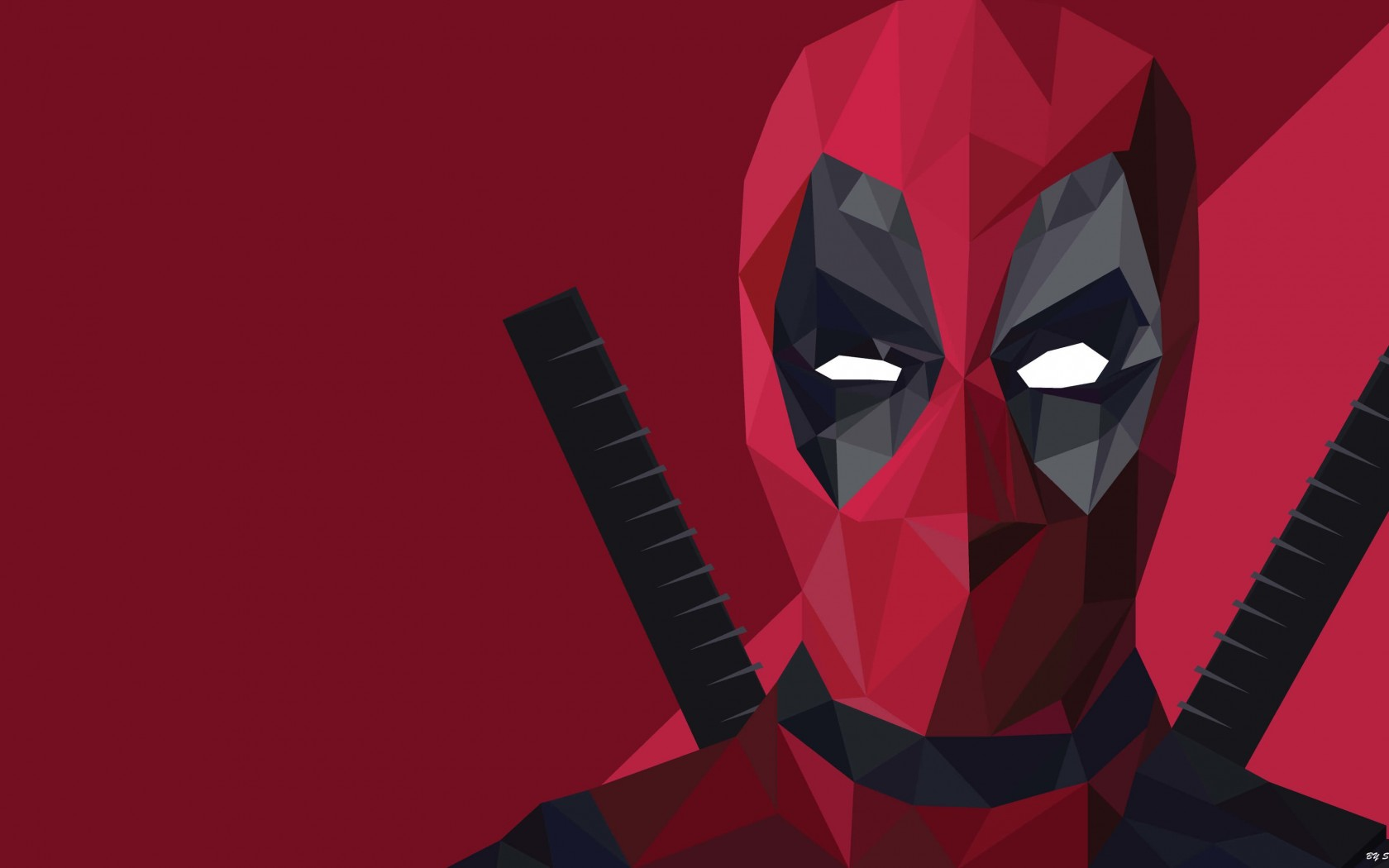 Low Poly Deadpool Wallpaper for Desktop 1680x1050