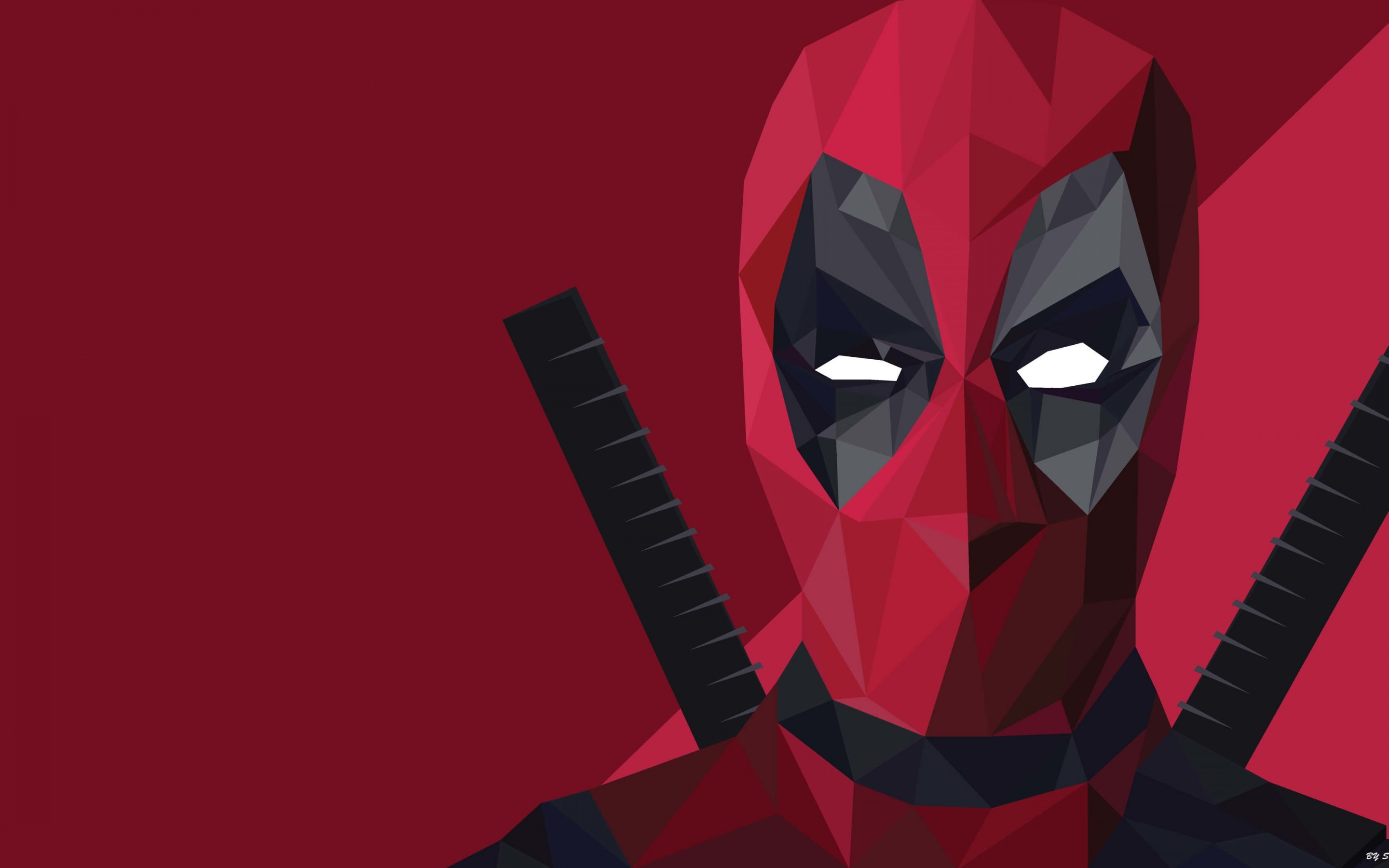 Low Poly Deadpool Wallpaper for Desktop 2880x1800