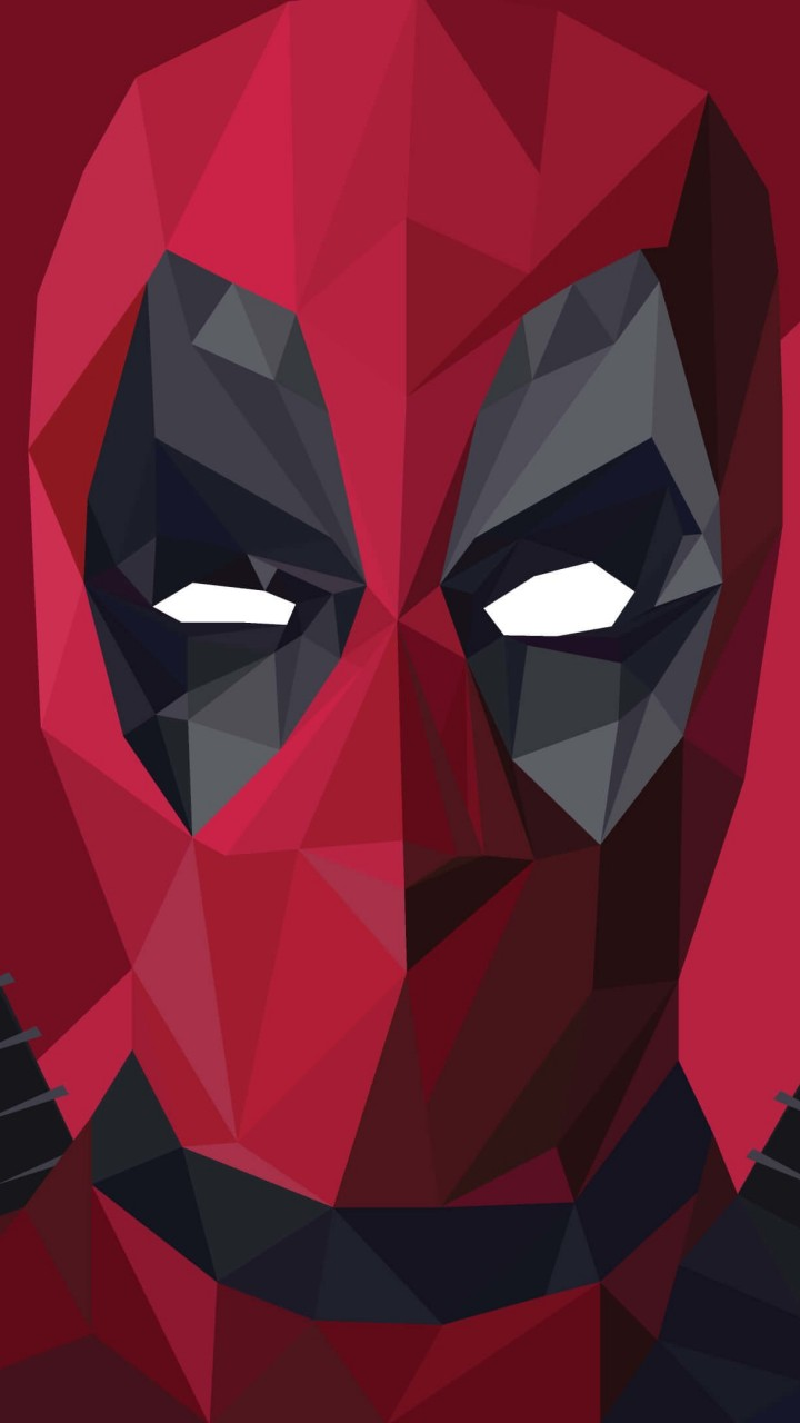 Low Poly Deadpool Wallpaper for HTC One mini