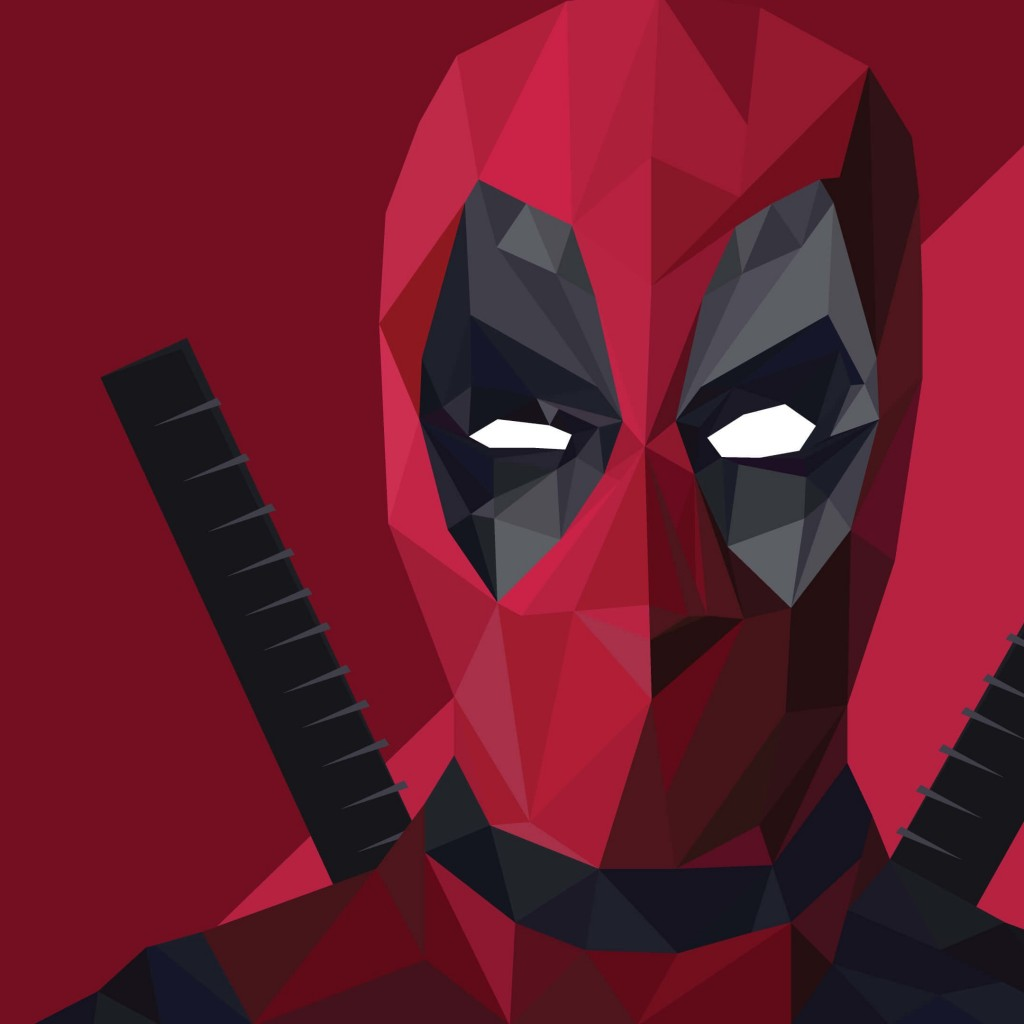 Low Poly Deadpool Wallpaper for Apple iPad 2