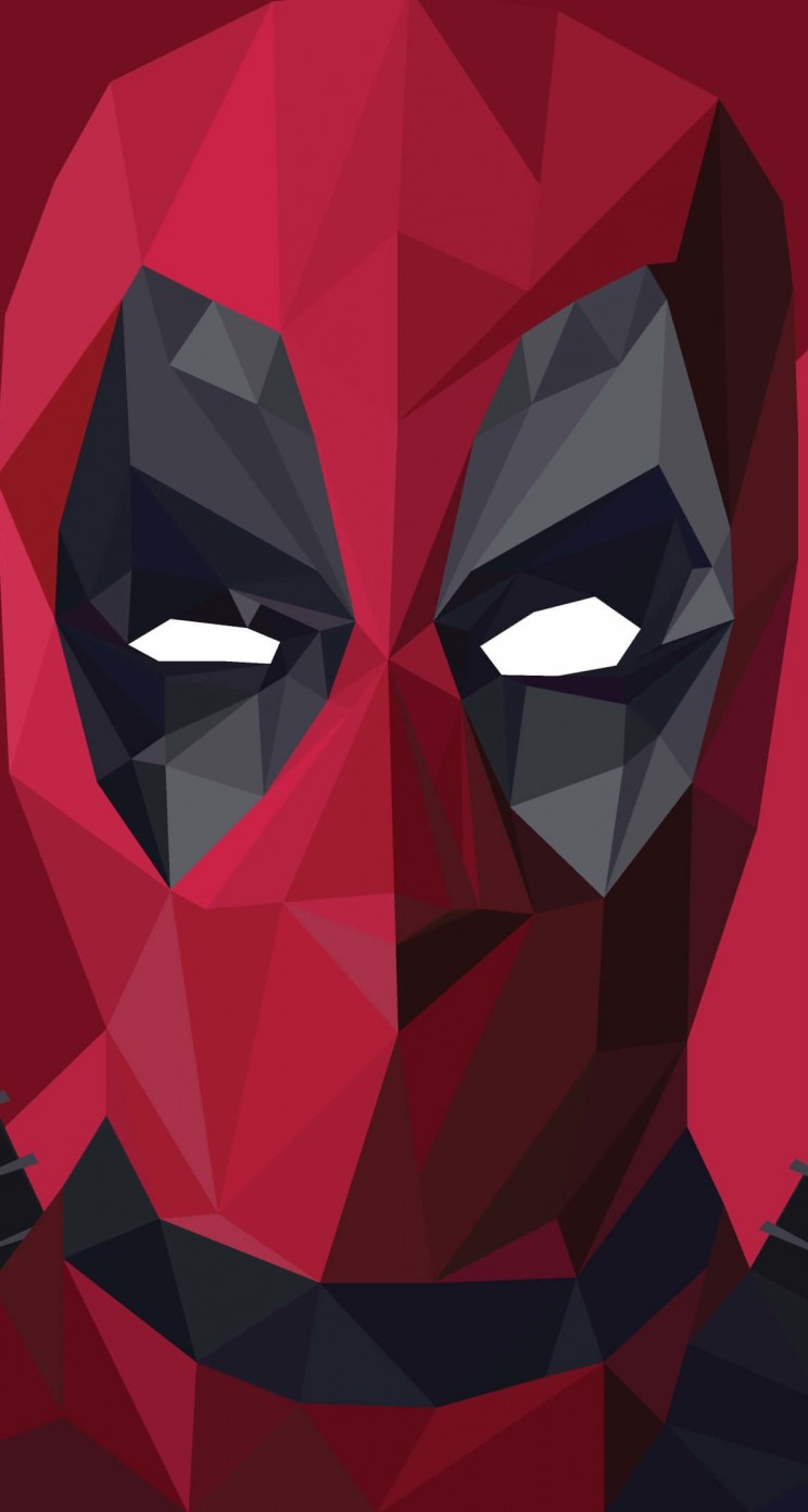 Low Poly Deadpool Wallpaper for Apple iPhone 5 / 5s
