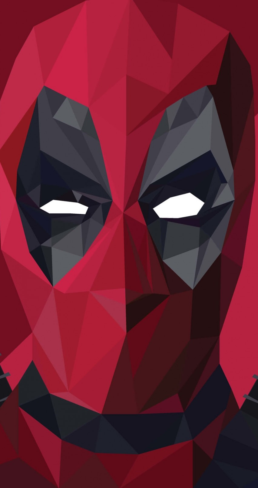 Low Poly Deadpool Wallpaper for Apple iPhone 6 / 6s