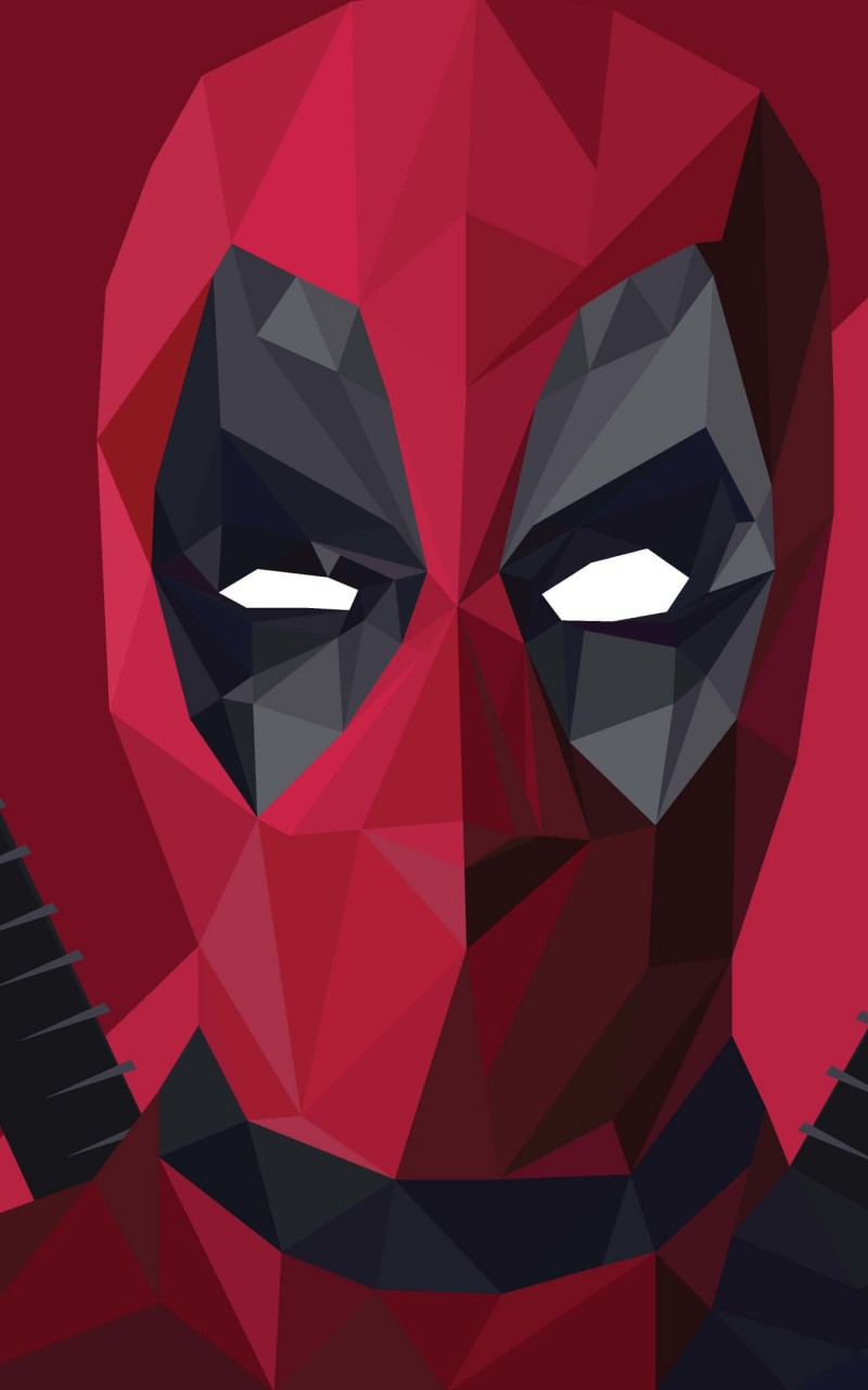Low Poly Deadpool Wallpaper for Amazon Kindle Fire HD