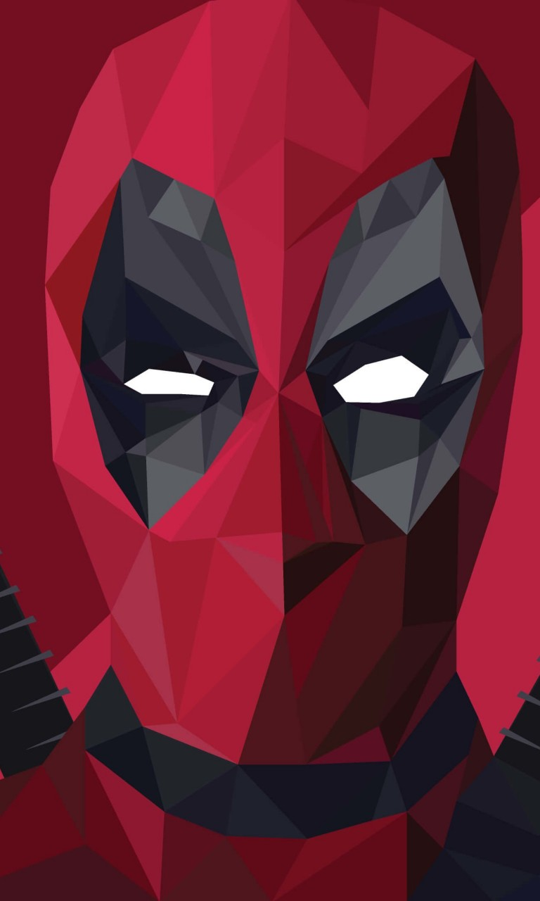 Low Poly Deadpool Wallpaper for LG Optimus G
