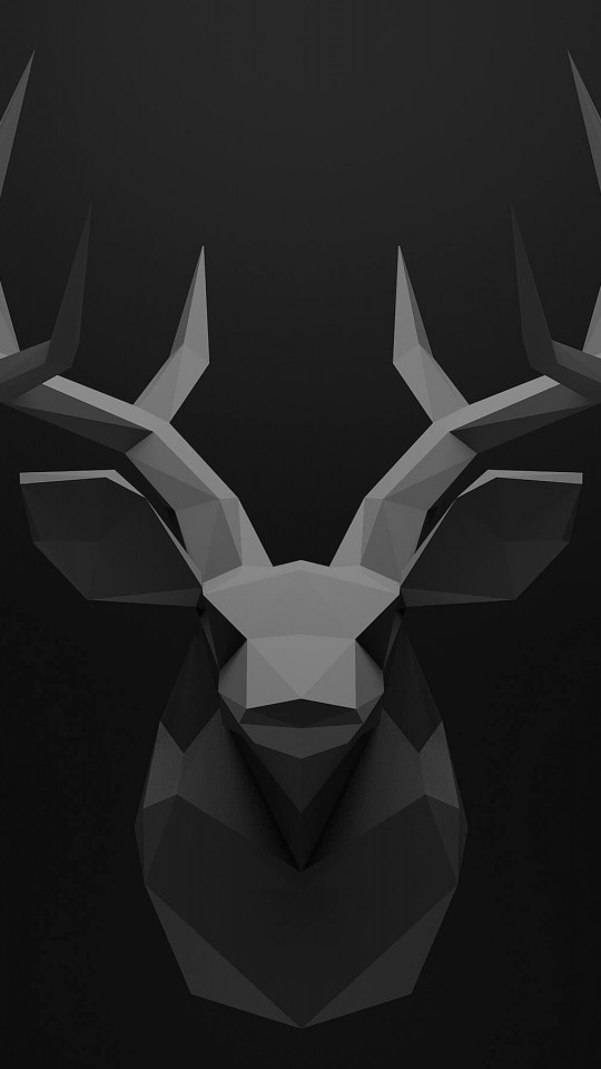 Low Poly Deer Head Wallpaper for SAMSUNG Galaxy S4 Mini